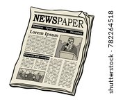 newspaper pop art retro vector... | Shutterstock .eps vector #782264518