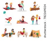 summer time people activities... | Shutterstock .eps vector #782269024