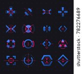 set of isolated vector aim of... | Shutterstock .eps vector #782276689