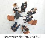 handshake business partners at... | Shutterstock . vector #782278780