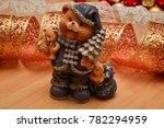 ceramic teddy bear on a...   Shutterstock . vector #782294959