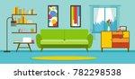 Apartment Living Room Interior vector | Shutterstock vector #782298538