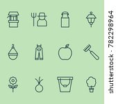 gardening icons set with grower ... | Shutterstock .eps vector #782298964