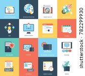 pack of web and seo vector icons | Shutterstock .eps vector #782299930