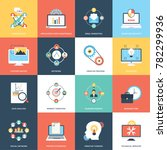 collection of web and seo flat... | Shutterstock .eps vector #782299936