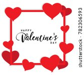 happy valentines day text box...   Shutterstock .eps vector #782306593