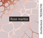 gold marble. vector decorative... | Shutterstock .eps vector #782306740