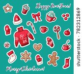 vector collection of christmas... | Shutterstock .eps vector #782312869
