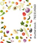 various vegetables and fruits...   Shutterstock . vector #782314060