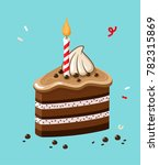 icon of a festive chocolate... | Shutterstock .eps vector #782315869