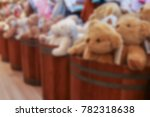 blurred group of brown bear... | Shutterstock . vector #782318638