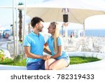 beautiful young man and woman... | Shutterstock . vector #782319433