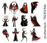 vampire characters collection | Shutterstock .eps vector #782341966