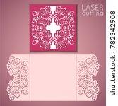 laser cut wedding invitation... | Shutterstock .eps vector #782342908