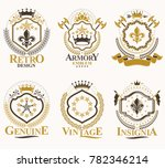set of retro vintage insignias... | Shutterstock . vector #782346214