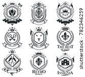 vintage heraldry design... | Shutterstock . vector #782346259