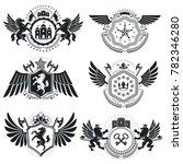 heraldic coat of arms  vintage... | Shutterstock . vector #782346280
