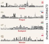 vector city skylines of vienna  ... | Shutterstock .eps vector #782346673