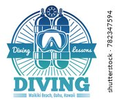 color diving club emblem or... | Shutterstock .eps vector #782347594