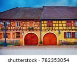 beautiful half timbered house... | Shutterstock . vector #782353054