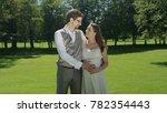 embraced happy couple in love... | Shutterstock . vector #782354443