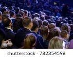 people attend business... | Shutterstock . vector #782354596