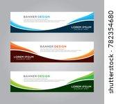 abstract modern banner...   Shutterstock .eps vector #782354680