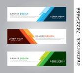 abstract modern banner...   Shutterstock .eps vector #782354686
