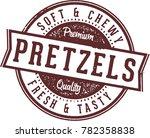 soft fresh pretzels food stamp | Shutterstock .eps vector #782358838