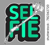selfie stick design isolated... | Shutterstock .eps vector #782362720