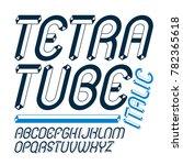 upper case modern alphabet... | Shutterstock . vector #782365618