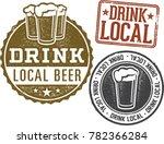 drink local brewery beer stamps | Shutterstock .eps vector #782366284