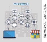 fintech industry design   Shutterstock .eps vector #782367136