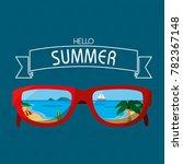 beach inside glasses design | Shutterstock .eps vector #782367148