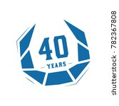 40 years design template.... | Shutterstock .eps vector #782367808