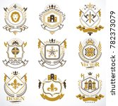 heraldic coat of arms created... | Shutterstock . vector #782373079