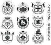 old style heraldry  heraldic...   Shutterstock . vector #782373190