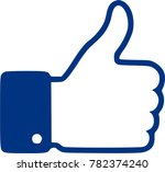 thumb up logotype illustration... | Shutterstock .eps vector #782374240