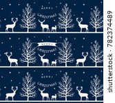 seamless christmas pattern with ... | Shutterstock .eps vector #782374489