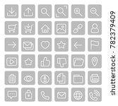 grey most used webdesign square ... | Shutterstock .eps vector #782379409