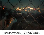 close up color image of a fence ... | Shutterstock . vector #782379808