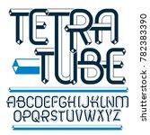 upper case modern alphabet...   Shutterstock . vector #782383390