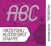 cool capital alphabet letters... | Shutterstock . vector #782383564