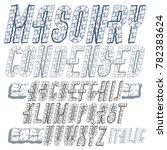 upper case modern alphabet... | Shutterstock . vector #782383624