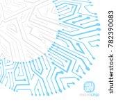 futuristic cybernetic scheme ...   Shutterstock . vector #782390083