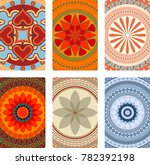 colorful vector mandalas for... | Shutterstock .eps vector #782392198