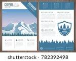outdoors flyer design with... | Shutterstock .eps vector #782392498