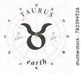 zodiac sign taurus logo and... | Shutterstock .eps vector #782394526