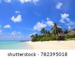 luxury beach resort  bungalow... | Shutterstock . vector #782395018