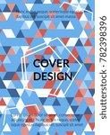 minimal cover design.... | Shutterstock .eps vector #782398396
